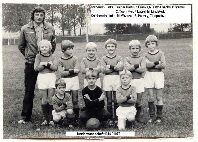 Kindermannschaft 1976/1977